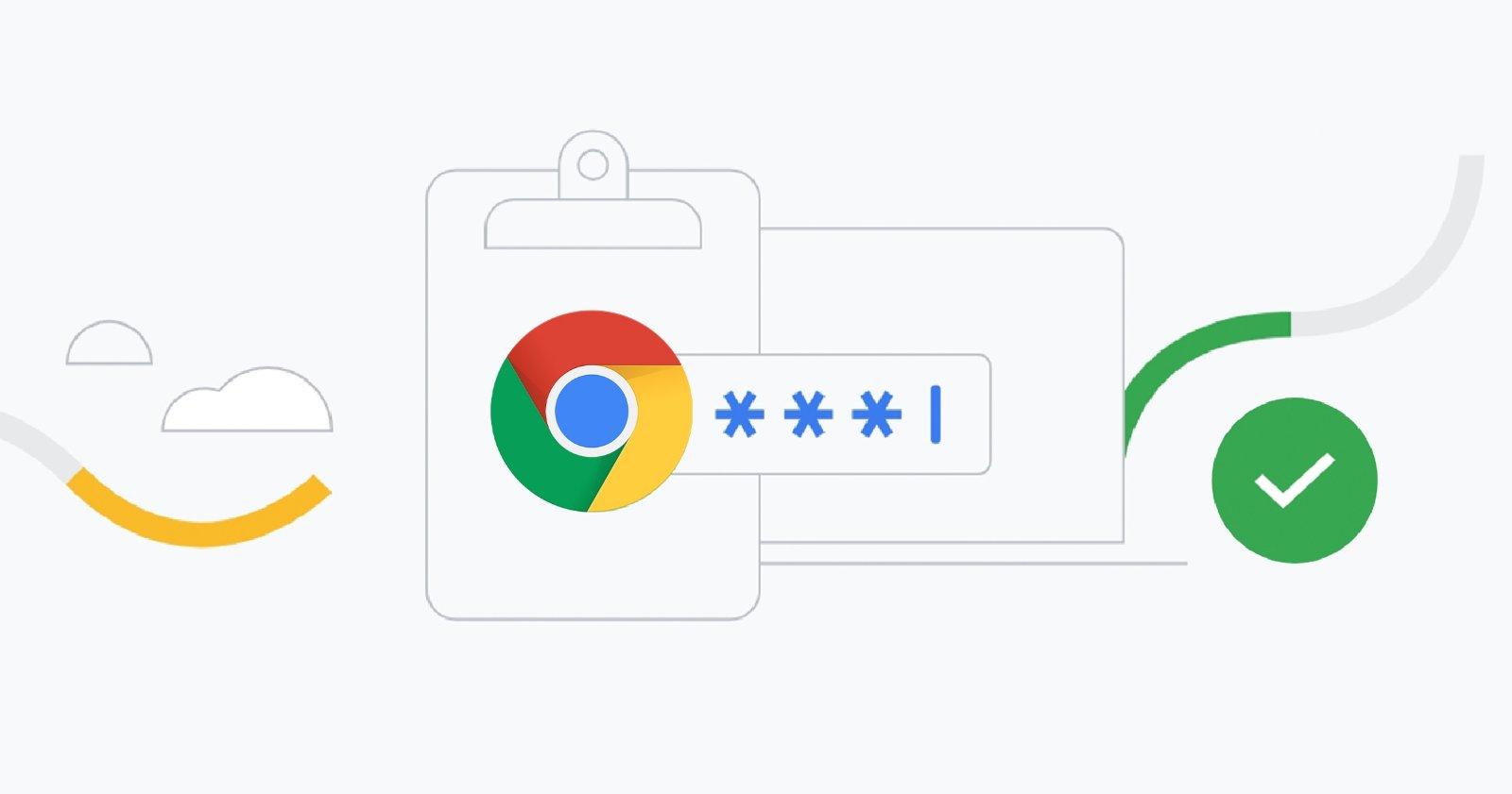 Google क्रोम में पासवर्ड