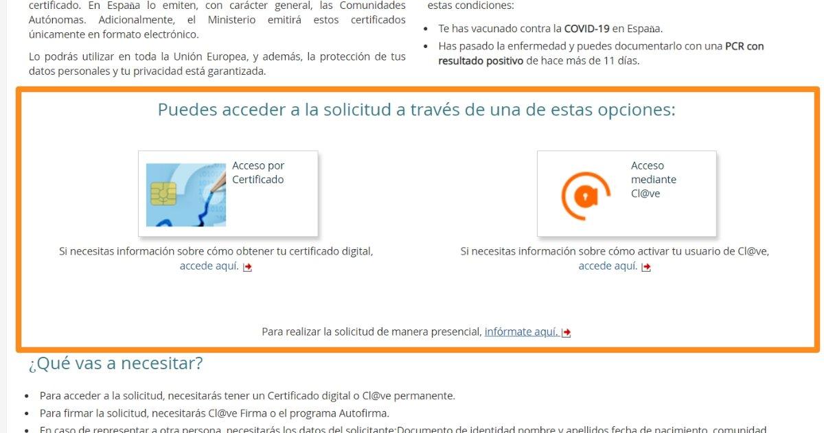 ऑनलाइन COVID डिजिटल प्रमाणपत्र आवेदन