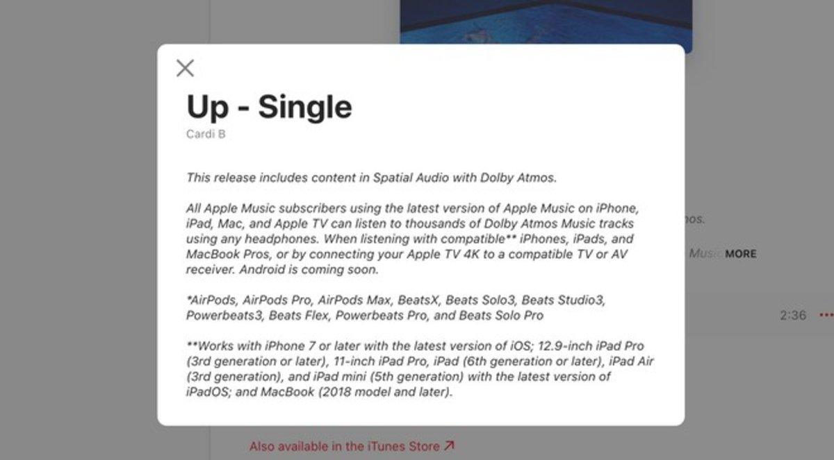 Android पर स्थानिक ऑडियो के साथ Apple Music