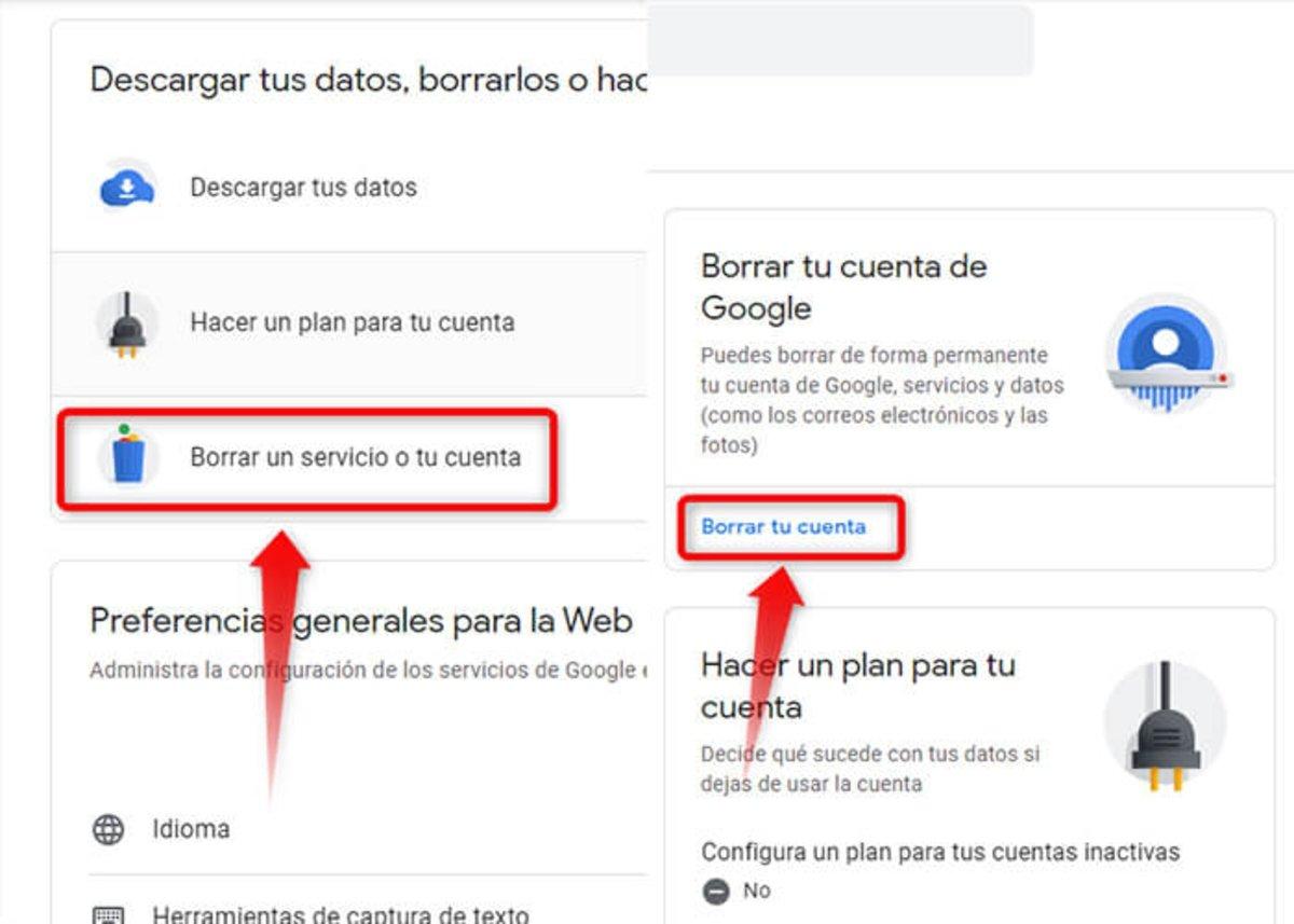 Gmail या Google खाता रद्द करने के लिए 2-चरण