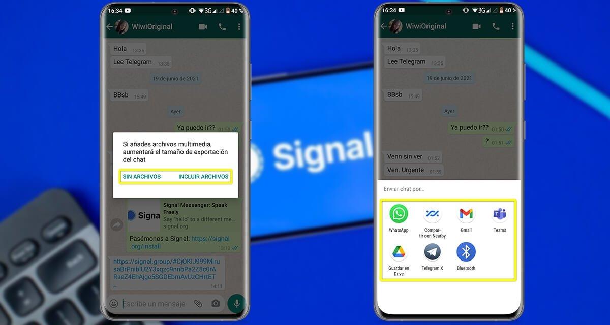 अपने सभी WhatsApp चैट को Signal में स्थानांतरित करने के लिए 2-चरण