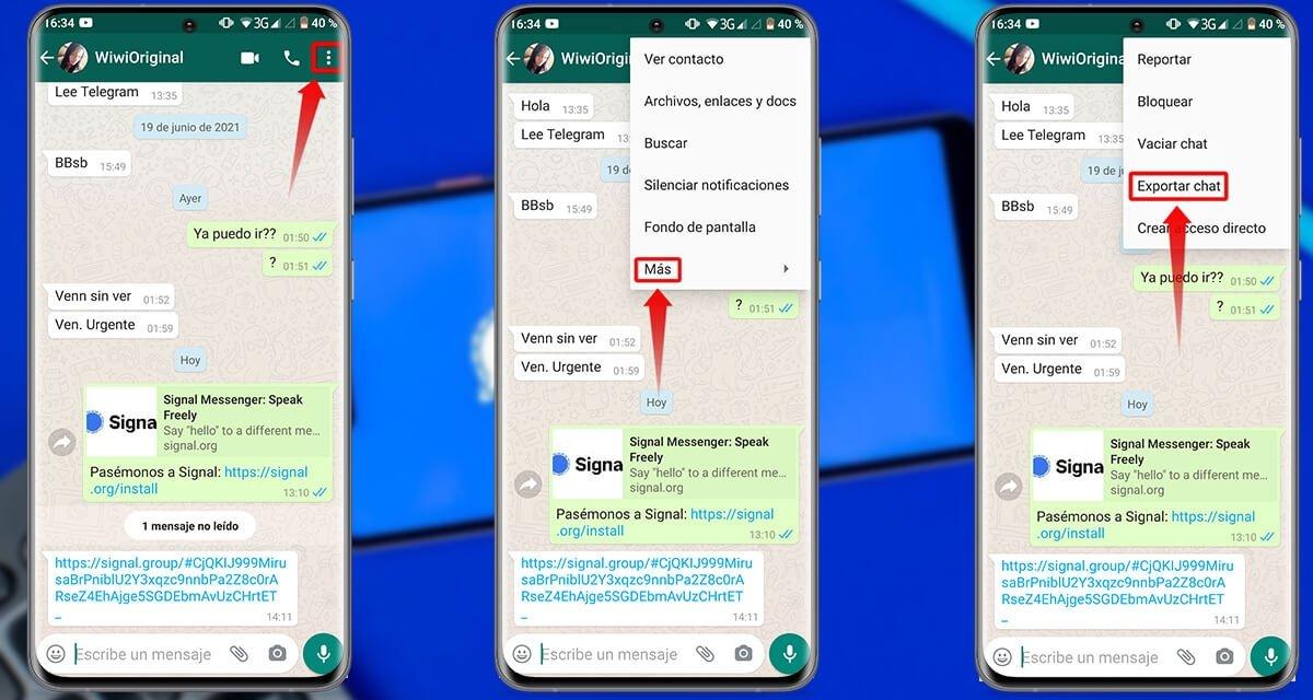 अपने सभी WhatsApp चैट को Signal में स्थानांतरित करने के चरण