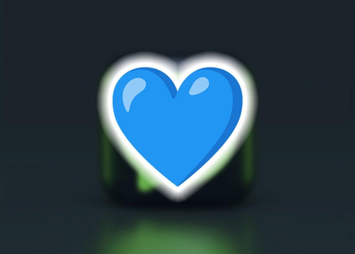 नीला दिल इमोजी