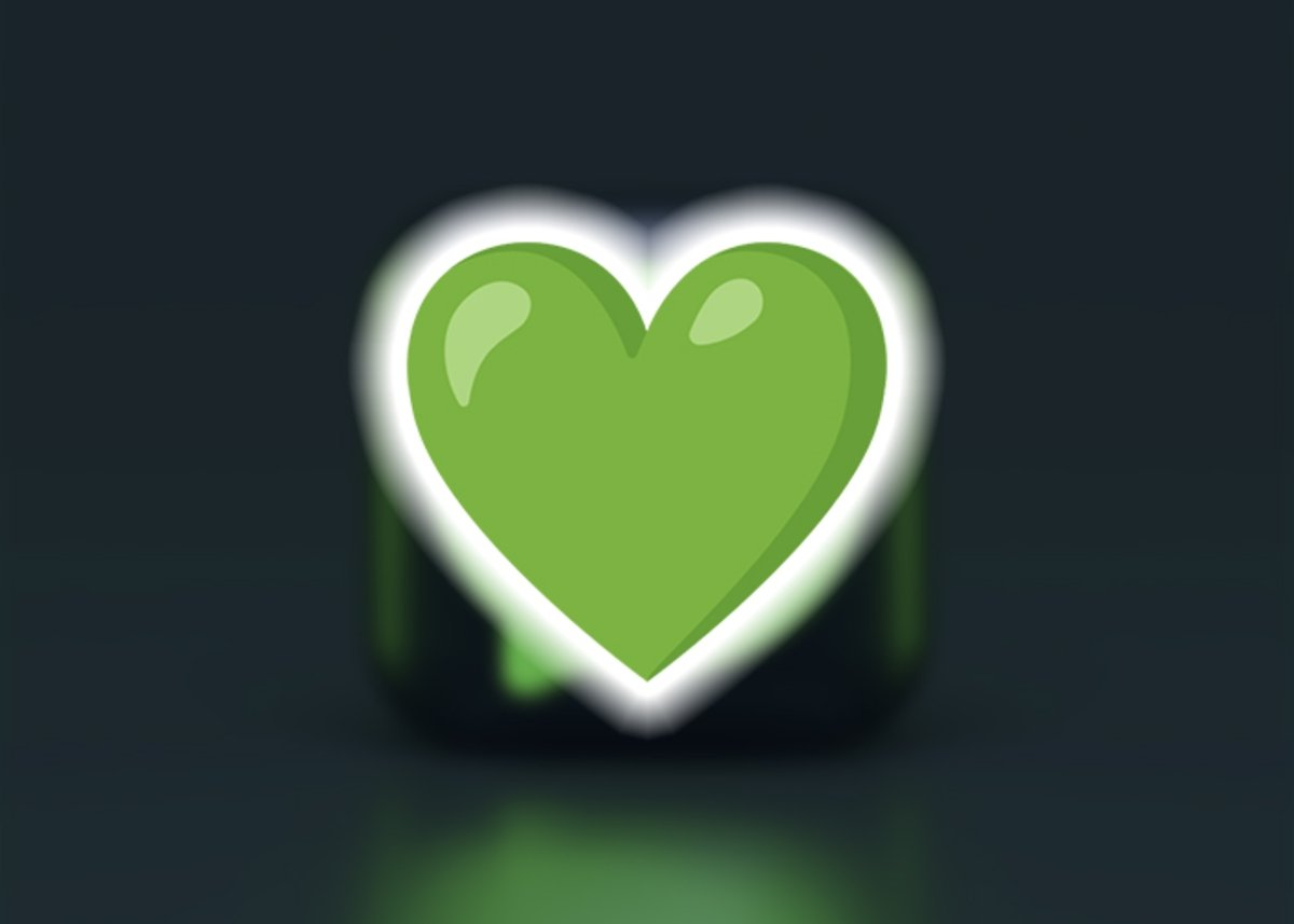 हरा दिल इमोजी