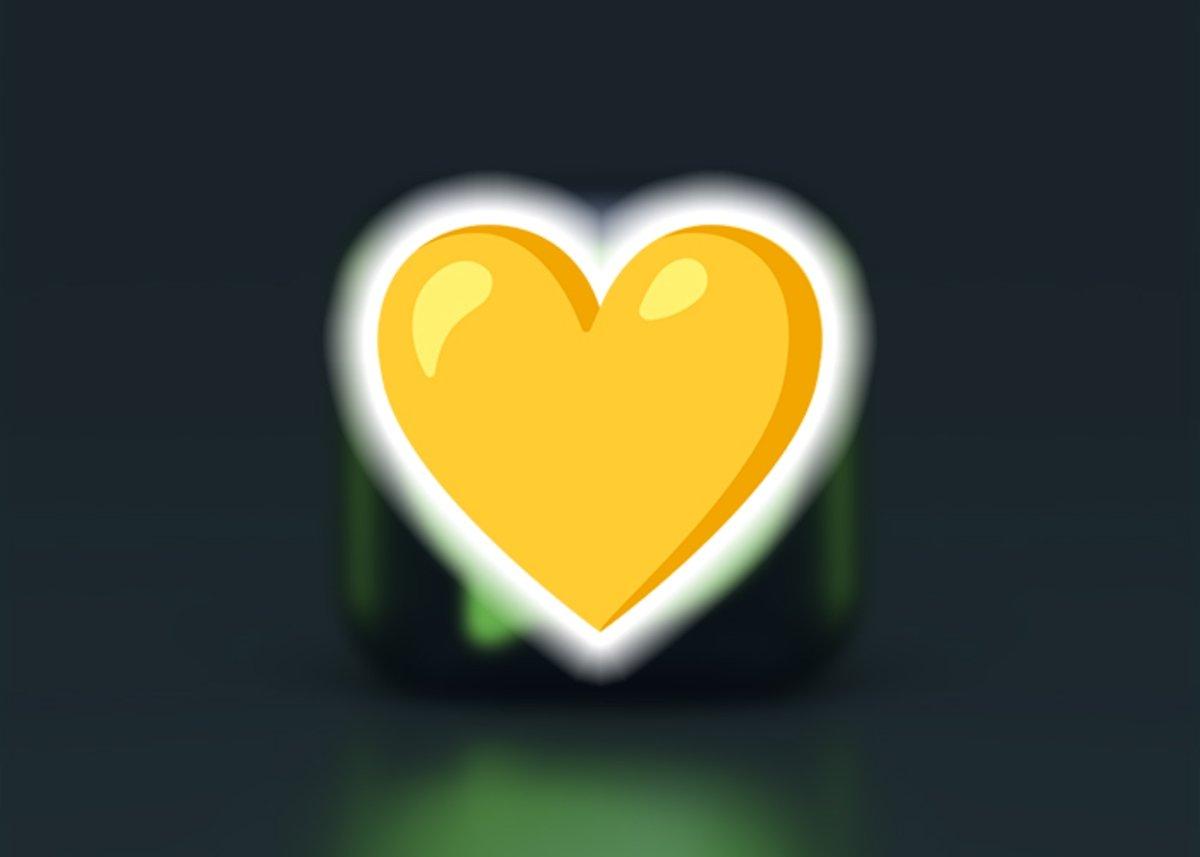 पीला दिल इमोजी