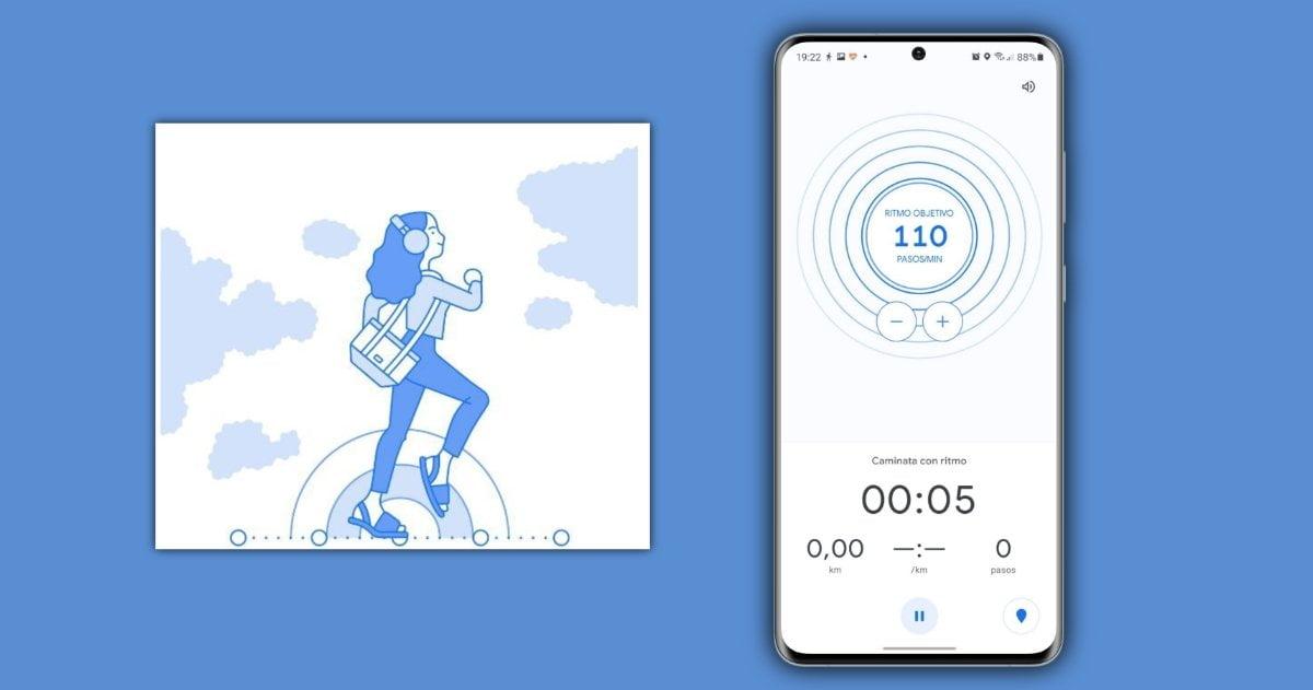 Caminata al ritmo Google Fit