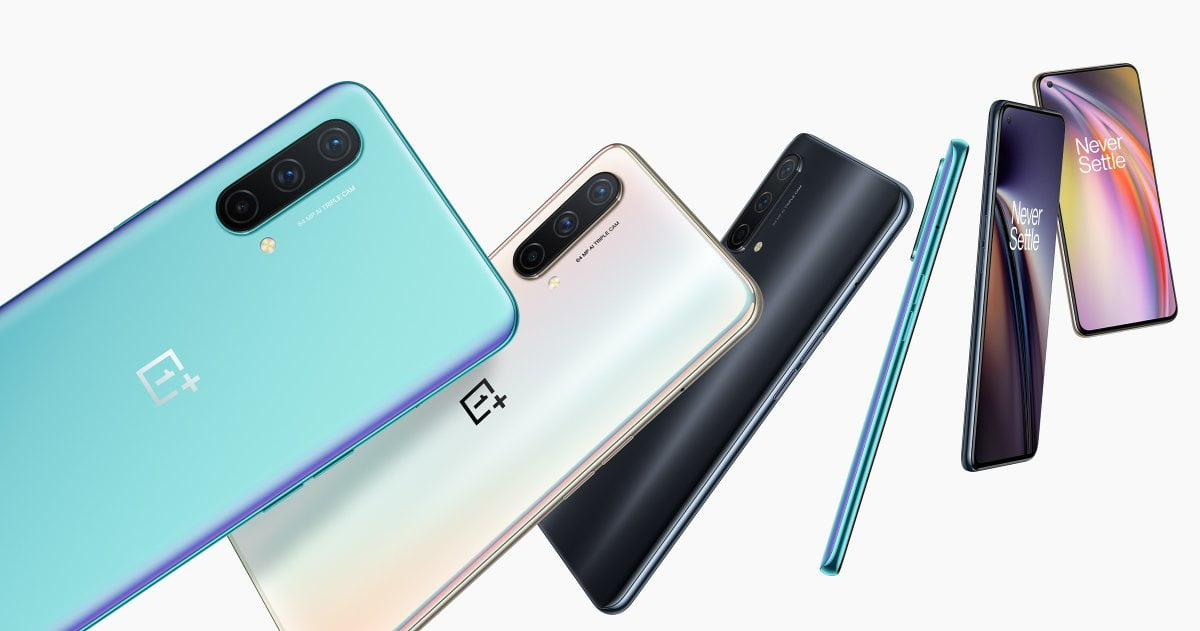 OnePlus Nord CE 5G parte trasera y pantalla