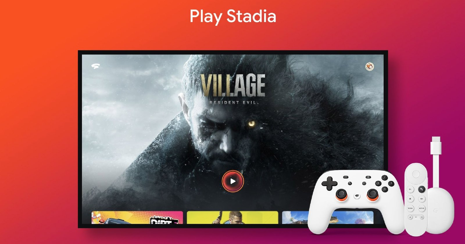 Google TV के साथ Chromecast पर Stadia