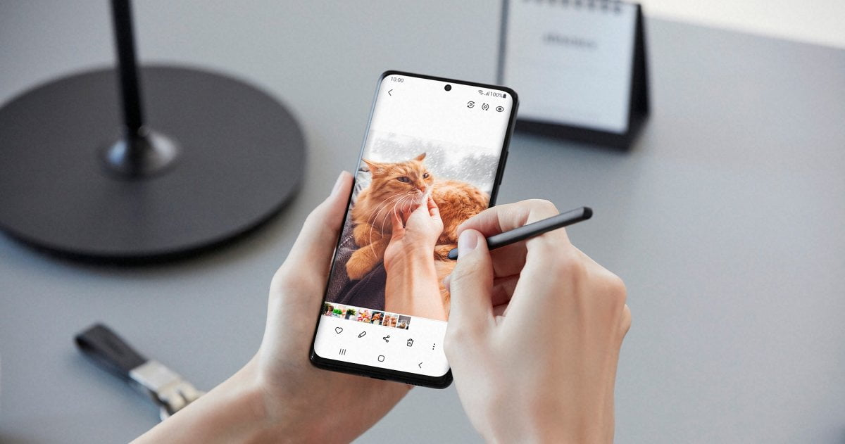 Galaxy S21 Ultra escritura con S Pen