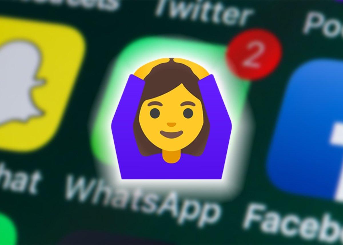 सिर पर हाथ रखने से WhatsApp इमोजी का क्या मतलब है?