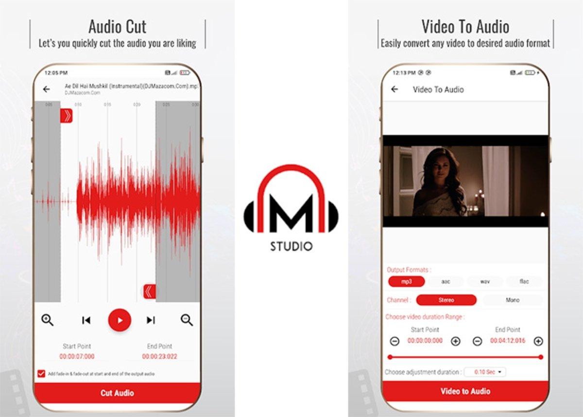 Mstudio Android के लिए सबसे लोकप्रिय ऑडियो संपादकों में से एक है