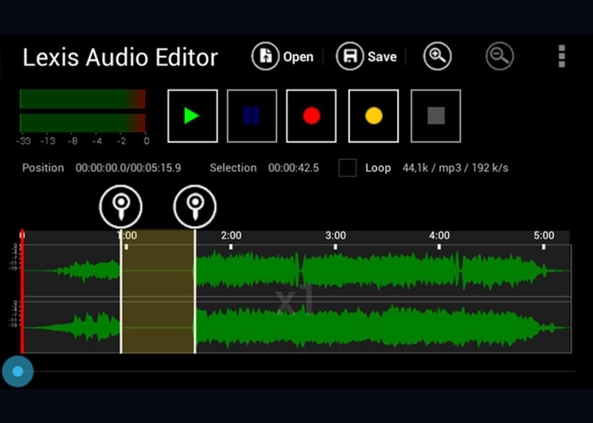 लेक्सिस ऑडियो एडिटर: ऑडियो फाइलों की रिकॉर्डिंग और संपादन