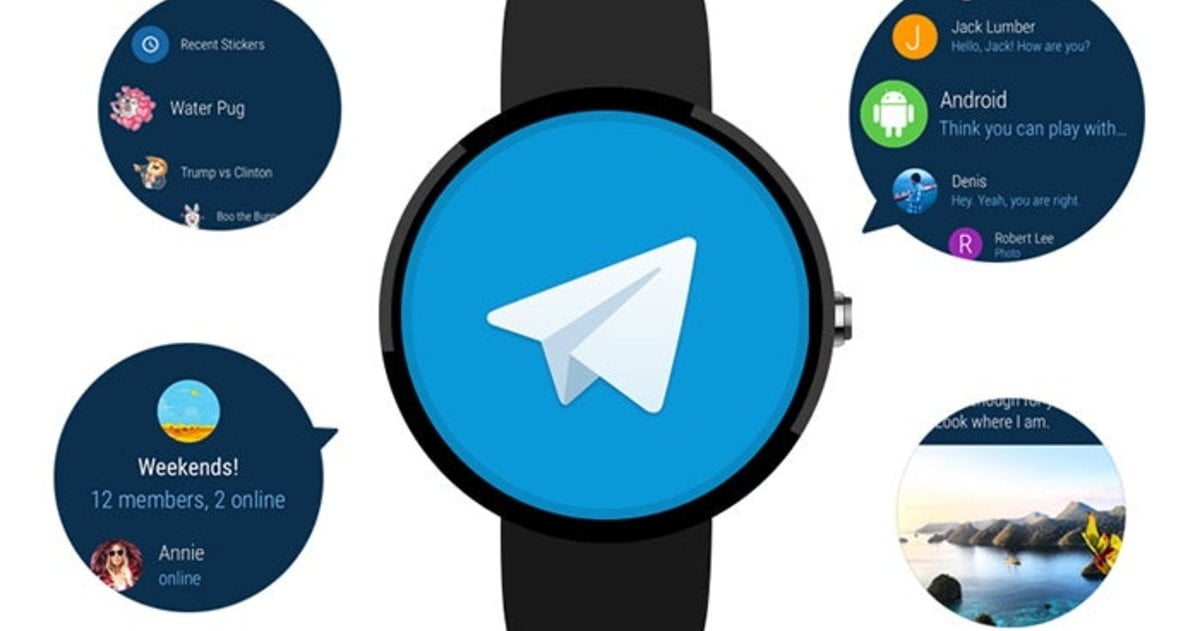 Telegram ya es compatible con Androi Wear 2.0