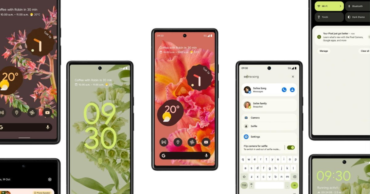 Google Pixel 6 con Android 12